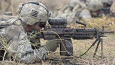Солдаты армии США во время учений в Сенегале