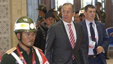 Министр иностранных дел РФ Сергей Лавров во время встречи министров иностранных дел АСЕАН в Лаосе. 25 июля 2016