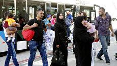 Прибытие сирийских беженцев. Архивное фото