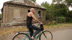 Разрушенный в результате обстрела частный дом в Горловке Донецкой области. Архивное фото