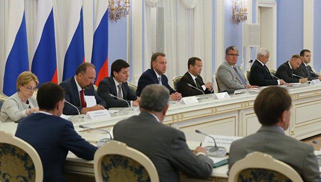 Премьер-министр РФ Д.Медведев провел заседание президиума Совета при президенте РФ по стратегическому развитию и приоритетным проектам. 1 августа 2016