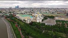 Московский Кремль и Соборная площадь с высоты птичьего полета