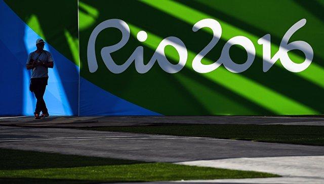 Волонтер в Олимпийском парке в Рио-де-Жанейро