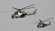 Вертолеты Ми-24. Архивное фото