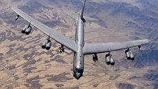 Американский многофункциональный стратегический бомбардировщик-ракетоносец B-52H/ Fh[bdyjt ajnj