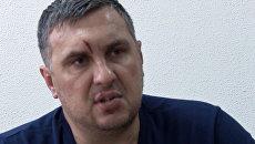 Подозреваемый в подготовке терактов в Крыму Евгений Панов во время допроса. Архивное фото