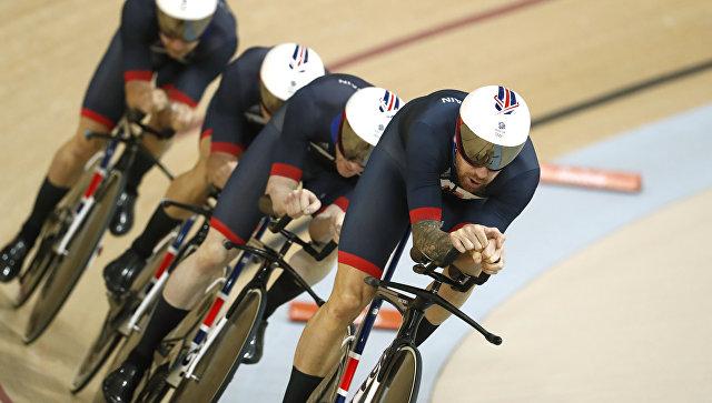 Женская сборная Англии выиграла командную гонку преследования наОлимпиаде смировым рекордом