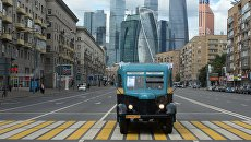 Автобус АК З-1 во время парада раритетных автобусов на празднике московского автобуса