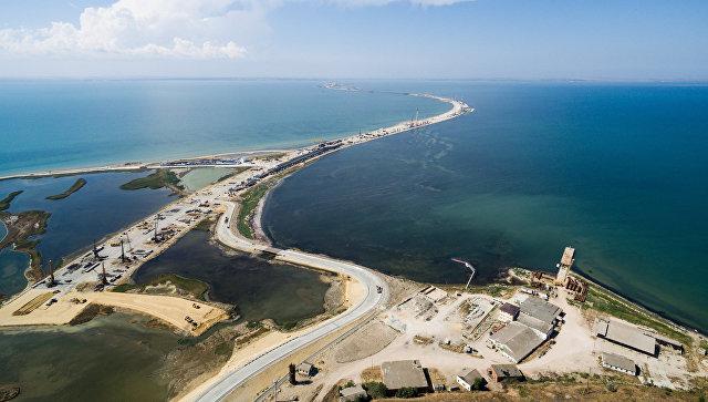 Строящийся участок дороги от трассы М-25 до Керченского пролива и будущей трассы Таврида. Архивное