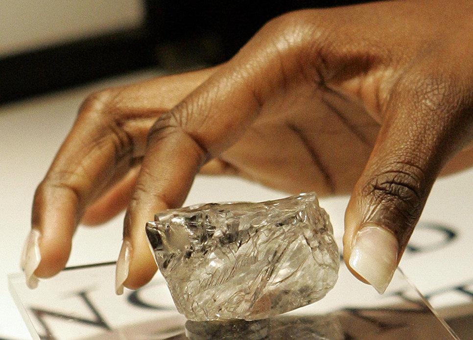 Алмаз Обещание Лесото во время показа в Бельгии. 2006 год