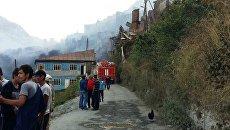 Пожар в селе Мокок, Дагестан
