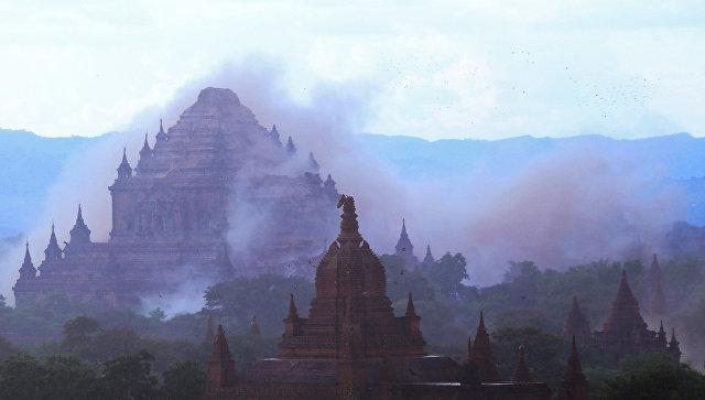 Древний город Паган в Мьянме, поврежденный землетрясением. 24 августа 2016
