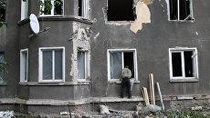 Дом в поселке Гольмовский Горловского района, пострадавший в результате обстрела. Архивное фото