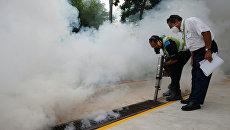 Профилактические работы в местах обнаружения вируса Зика в Сингапуре