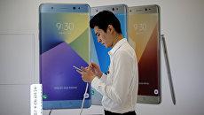 Смартфон Galaxy Note 7. Архивное фото