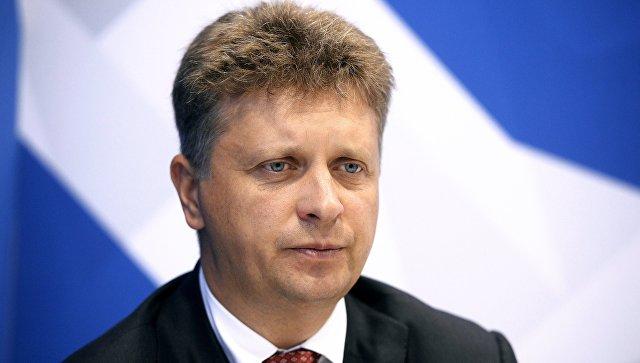 Министр транспорта РФ Максим Соколов во время интервью РИА Новости на Восточном экономическом форуме во Владивостоке