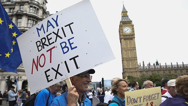 Акция протеста против результатов Brexit в Лондоне. Архивное фото