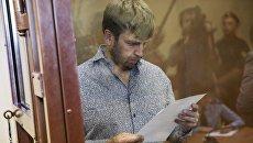 Гендиректор типографии Печатный экспресс на Алтуфьевском шоссе Сергей Москвин в Останкинском районном суде. 6 сентября 2016
