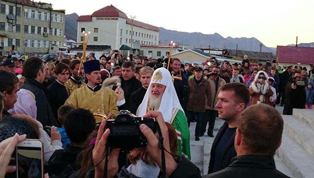 Храм Воздвижения Креста, который освятил патриарх Кирилл