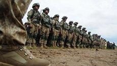 Военнослужащие вооруженных сил РФ на учениях в Псковской области. Архивное фото
