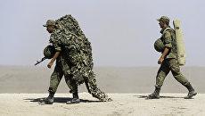 Российские военнослужащие во время военных учений. Архивное фото
