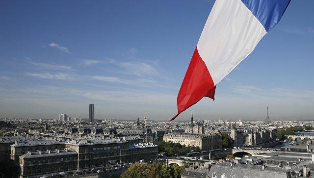 Вид на Париж, Франция. Архивное фото