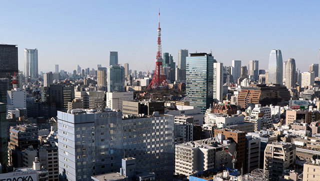 Вид Токио, Япония. Архивное фото.