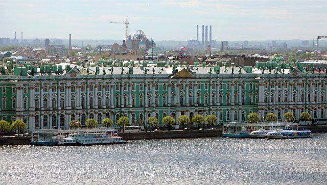 Вид на Зимний дворец. Архивное фото