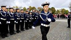 Посвящение в кадеты воспитанников Кронштадтского морского кадетского корпуса