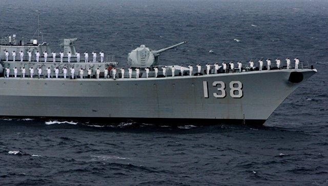 Российско-китайские учения Морское взаимодействие
