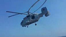 Вертолеты Ка-27 и Z-9C барражировали над морем на российско-китайских учениях