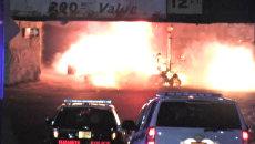 Момент взрыва возле железнодорожной станции в Нью-Джерси