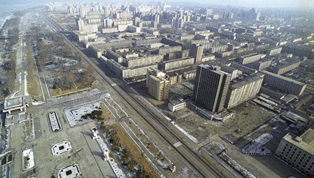 Панорама Пхеньяна, КНДР. Архивное фото