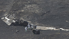 На месте крушения американского самолета-разведчика U-2  в штате Калифорния. 20 сентября 2016