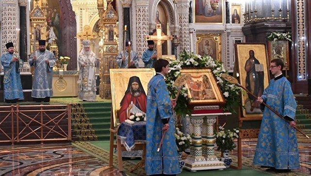 В российской столице провожают мощи преподобного Силуана Афонского