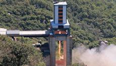 Испытания нового ракетного двигателя в Северной Корее. 20 сентября 2016