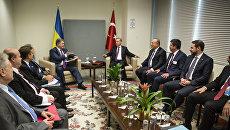 Встреча президентов Украины и Турции Петра Порошенко и Реджепа Эрдогана в рамках 71-й сессии Генеральной Ассамблеи ООН. 21 сентября 2016