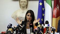 Мэр Рима Вирджиния Раджи во время пресс-конференции об отказе столицы Италии от заявки на проведение Олимпийских и Паралимпийских игр в 2024 году. 21 сентября 2016