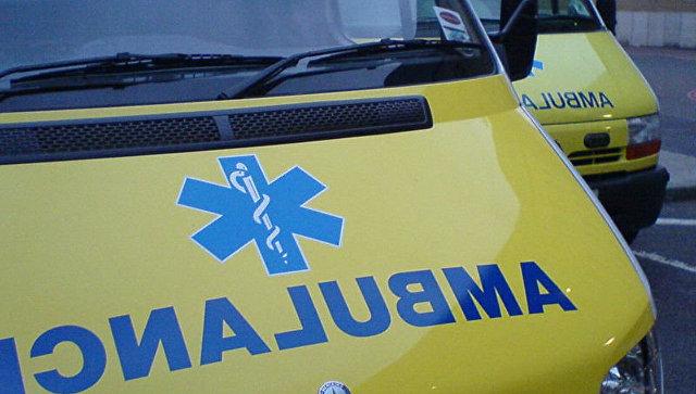 Автомобиль скорой медицинской помощи. Лондон, Великобритания. Архивное фото