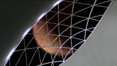 Внутри корабля для полета на Марс. Кадр из ролика SpaceX