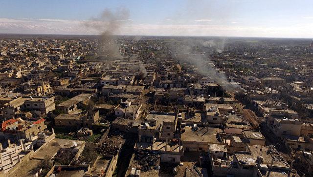 Освобожденный бойцами Сирийской арабской армии город. Архивное фото