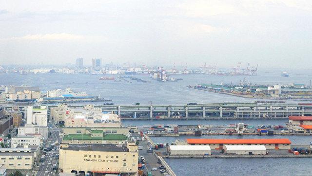 Портовая зона Кобе, Япония. Архивное фото