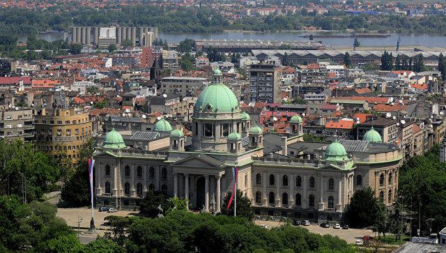 Вид с воздуха на Белград, Сербия. Вид. Архивное фото.