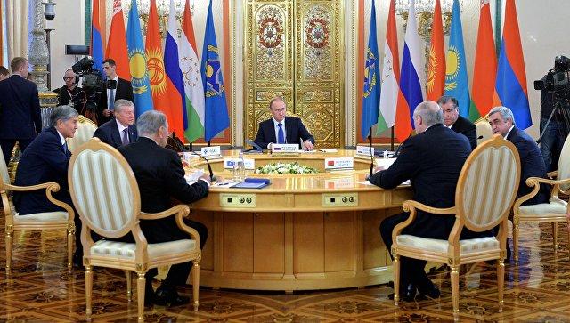 Заседание сессии Совета коллективной безопасности Организации Договора о коллективной безопасности (ОДКБ). Архивное фото