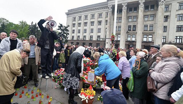 Одесские националисты поиздевались над погибшими в Доме профсоюзов 2 мая