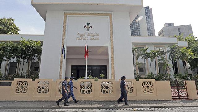 Здание парламента в столице Мальдив Мале