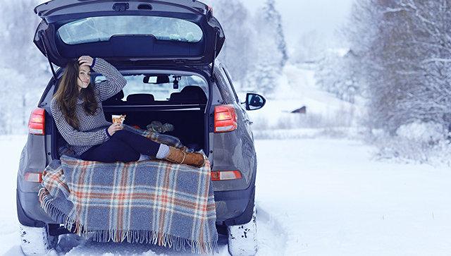 Зимнее путешествие на автомобиле
