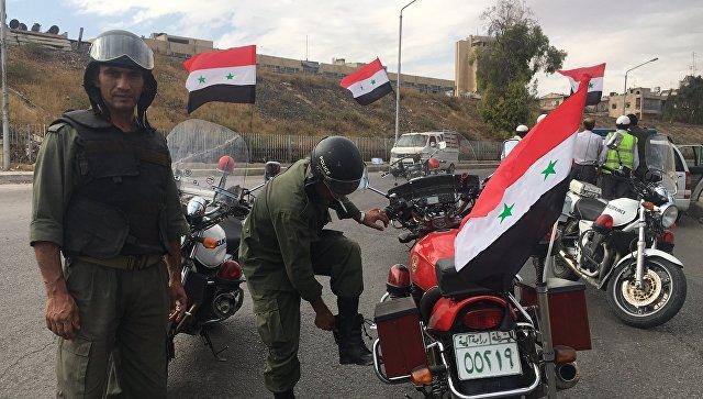 Сотрудники полиции в Сирии. Архивное фото