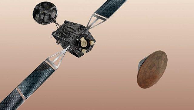 Космический модуль русского производства разбился при посадке наМарс