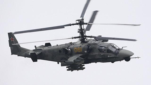 Многоцелевой всепогодный боевой вертолет Ка-52 Аллигатор. Архив